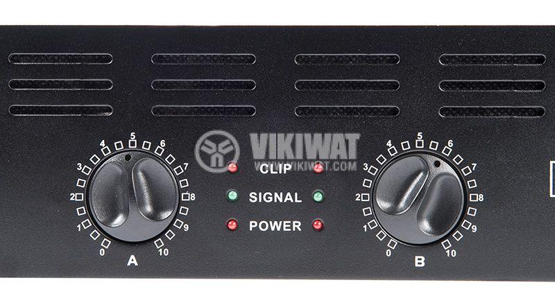 Професионален усилвател PA-AMP10000-KN, 2x500W, 2x250W - 6