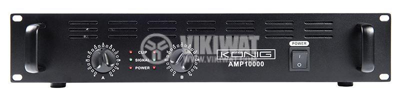 Професионален усилвател PA-AMP10000-KN, 2x500W, 2x250W - 1