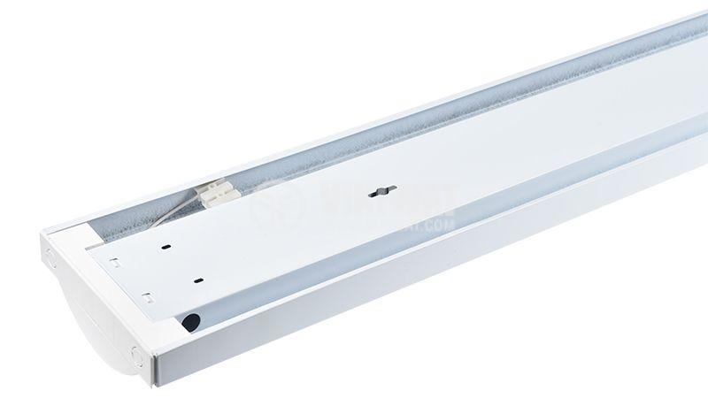 LED осветително тяло 2x18W, T8, 220VAC, IP21, 1200mm - 3