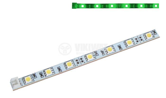 LED модул SMD5050, 30led, 7.2W, 12VDC, невлагозащитен, зелен