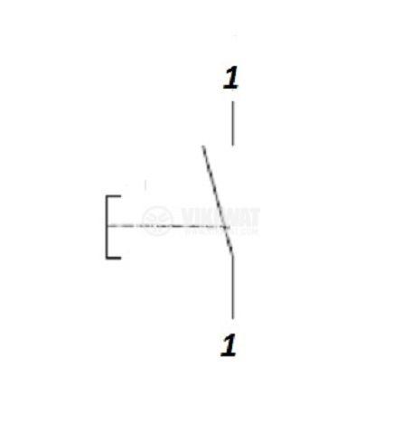 Електрически прекъсвач (ключ) за ръчни електроинструменти FA2-6/1B-11 6 A/250VAC 1NO  - 3