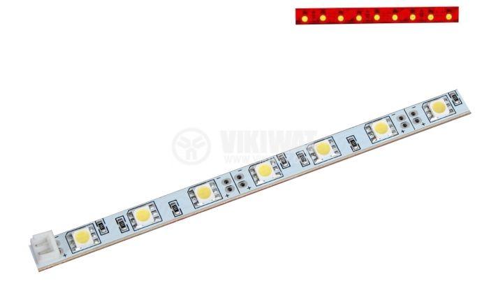 LED модул SMD5050, 30led, 7.2W, 12VDC, невлагозащитен, червен