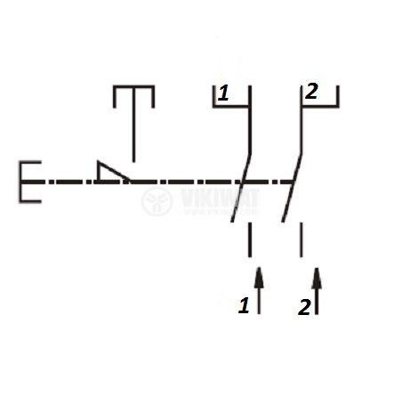 Електрически прекъсвач (ключ) за ръчни електроинструменти FA2-8/2W 8A/250VAC 2NO - 4