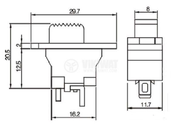 Електрически прекъсвач (ключ) за ръчни електроинструменти FA10-4/1F 4A/250VAC 1NO  - 2