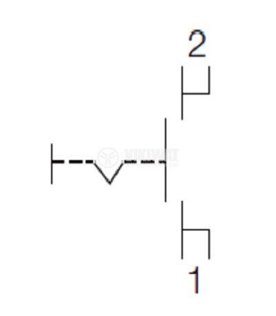 Електрически прекъсвач (ключ) за ръчни електроинструменти FA10-4/1F 4A/250VAC 1NO  - 3