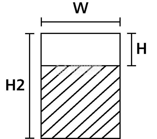 Самозалепващи стикери, 200 броя, 12.7х38.1mm, бели, RO201REF-1401-WH - 3