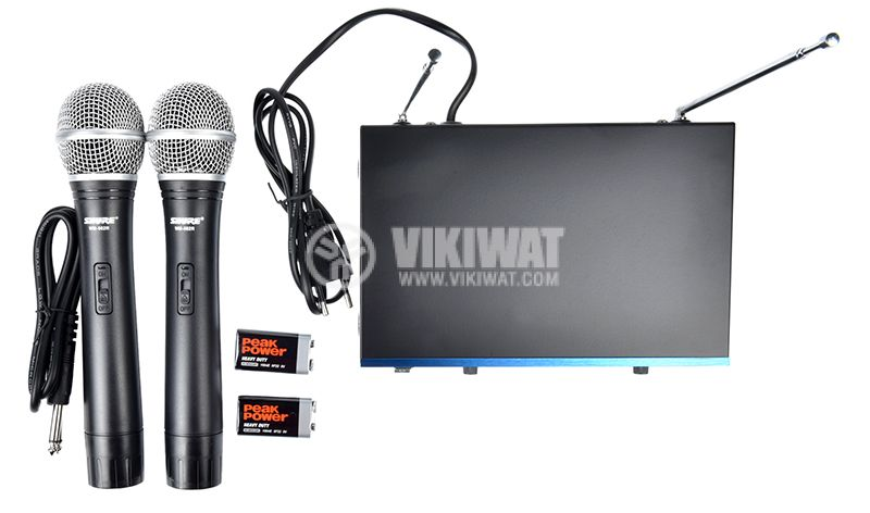 Professional wireless radio microphones with WM-502R receiver - 2