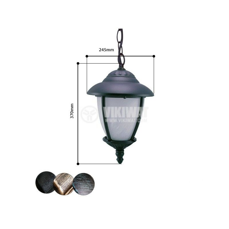 Garden lighting fixture Pacific CB 04, E27, hanging - 1