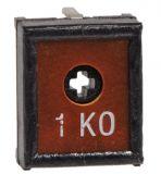 Тример потенциометър 1kOhm, еднооборотен, линеен, THT