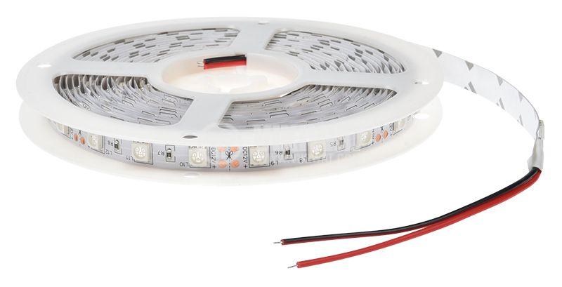 Светодиодна лента LED, 60 диода на метър, червен цвят, SMD5050, 12VDC, 14.4W/m, IP20 - 3