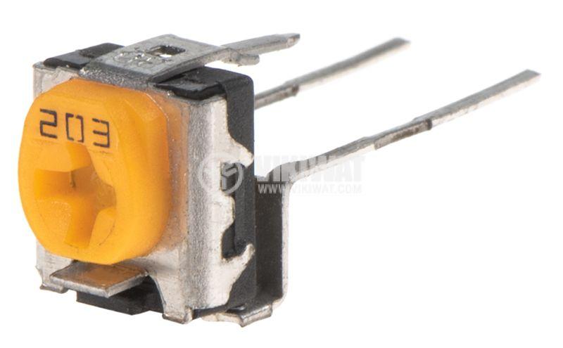 Потенциометър еднооборотен линеен THT - 1