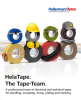 Brown pvc insulation electrical tape, band width 15mm, roll lenght 10m, helatape, hellermanntyton 710-00107 - 2