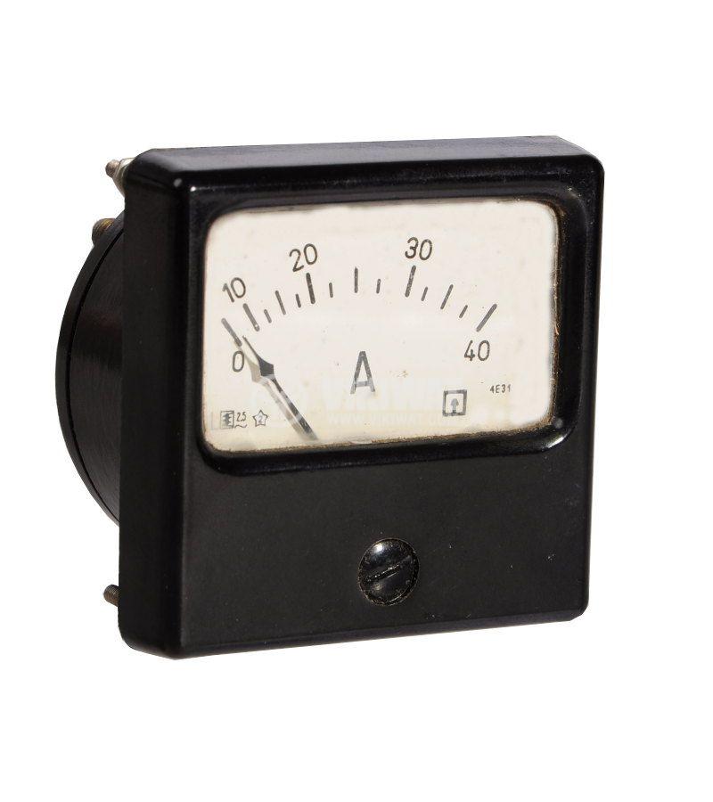 Амперметър, AC, 0/10 - 40A, директен, 4E31 - 1