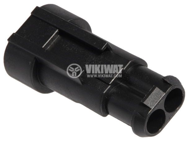 Connector AMP-0-0282104-1, 2 pins, 24VDC, IP67 - 3