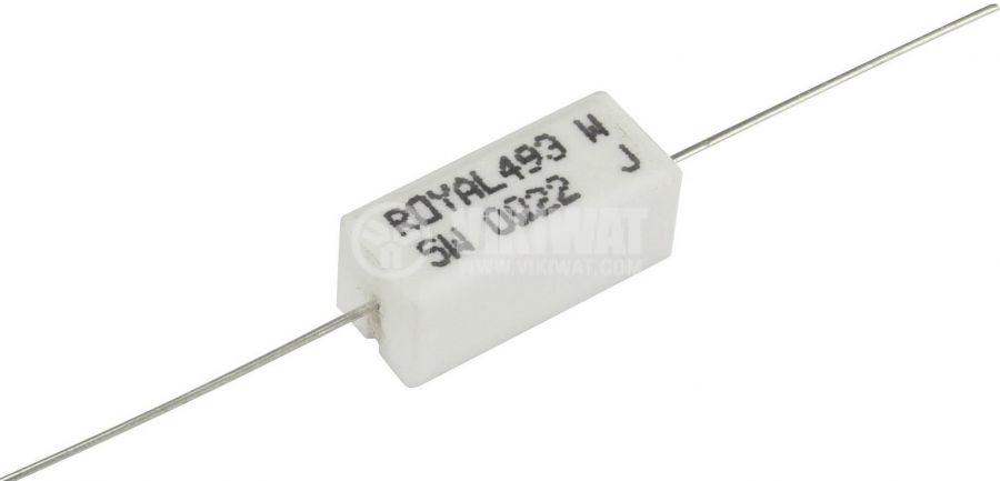 Резистор PRW05WJW220B00 керамичен 22Ohm 5W 5% vikiwat