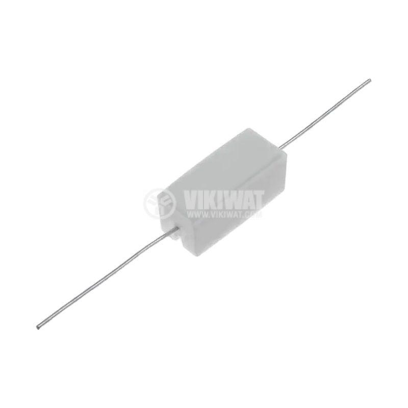 Резистор 2.2kohm, 5W, ±5%, жичен, керамичен