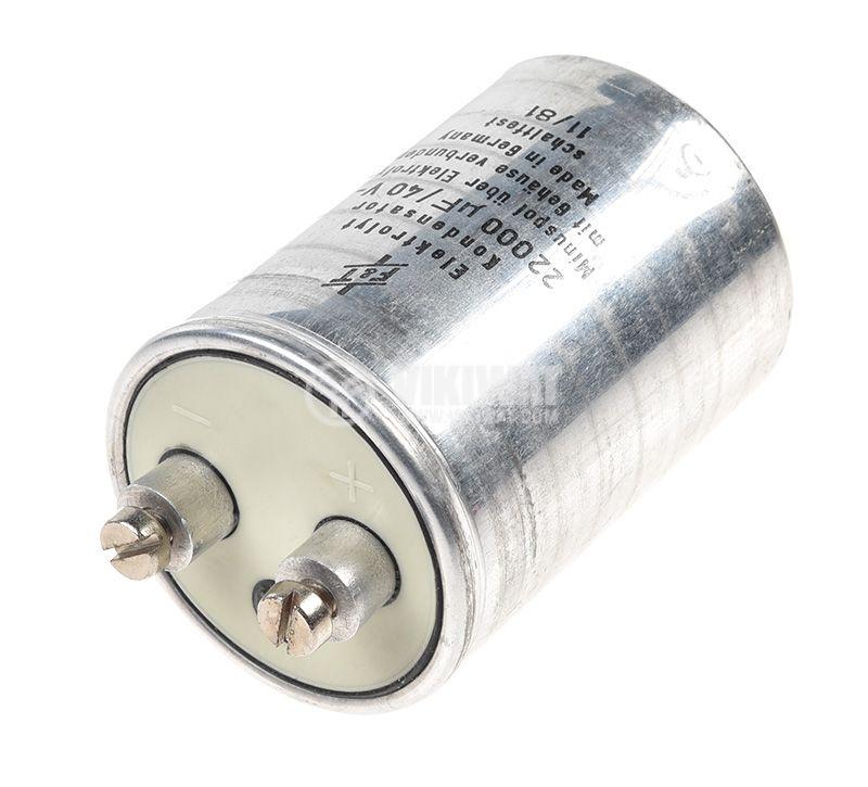 Кондензатор електролитен, 22000µF, 40V, ±20%  - 1