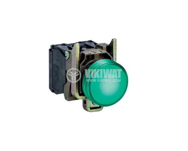 Индикаторна лампа LED, XB4BVB3, 24 VDC/VAC, зелена