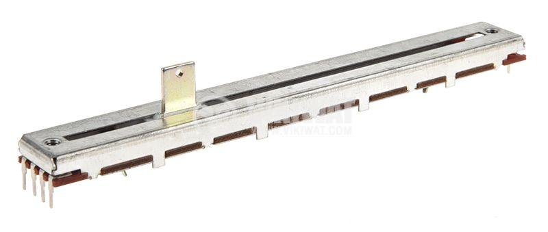 Потенциометър плъзгащ 250kOhm, 0.25W, линеен, стерео  - 1