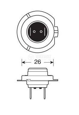 Автомобилна халогенна лампа H7 - 2