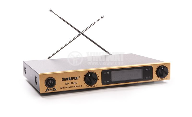 Wireless Microphone, Shure, SH-588D, with LED display - 2