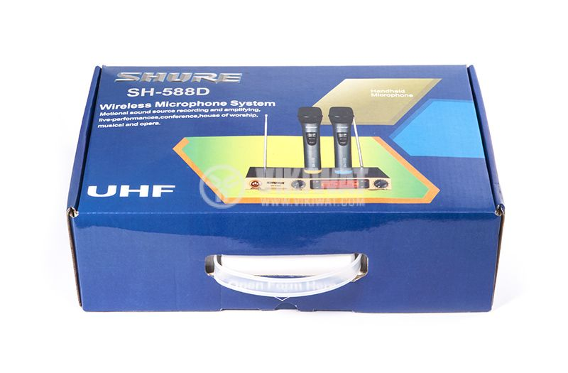 Wireless Microphone, Shure, SH-588D, with LED display - 5