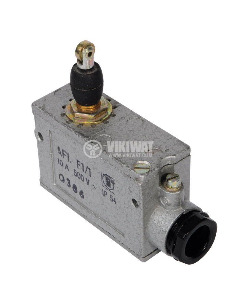 Краен изключвател AF1.F1/1, SPDT, 10A/500VAC, щифт с ролка