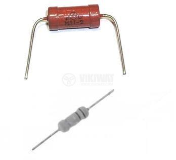 Резистори от 15k Ohm до 1.5M Ohm; 0.125W, ±5% , металослойни, цветен код