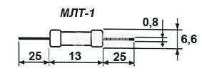 Резистор 1 Ohm, 1W, 5%, МЛТ1 - 1