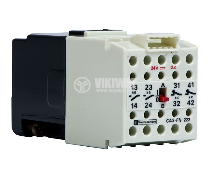 Contactor, four-pоle, coil 24VDC, 4PST - 2NO+2NC, 4A, CA2-FN 222B - 1