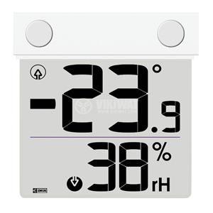 Термометър и влагомер RST01278, прозрачен LCD дисплей - 1