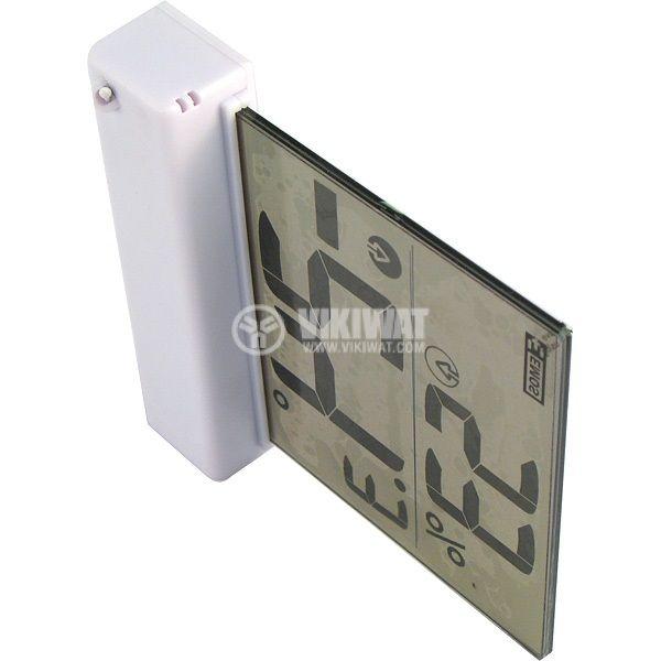 Термометър и влагомер RST01278, прозрачен LCD дисплей - 2