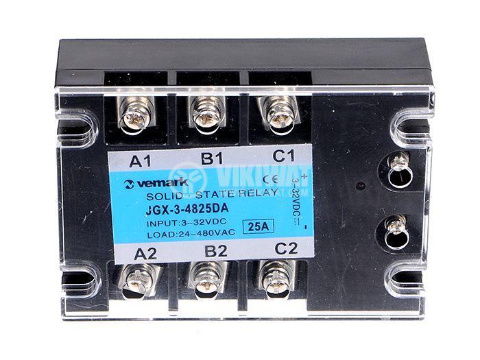 Solid State Relay JGX-3-4825DA 3-32VDC 25A/24-480VAC - 1