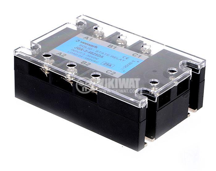 Solid State Relay JGX-3-4825DA 3-32VDC 25A/24-480VAC - 2