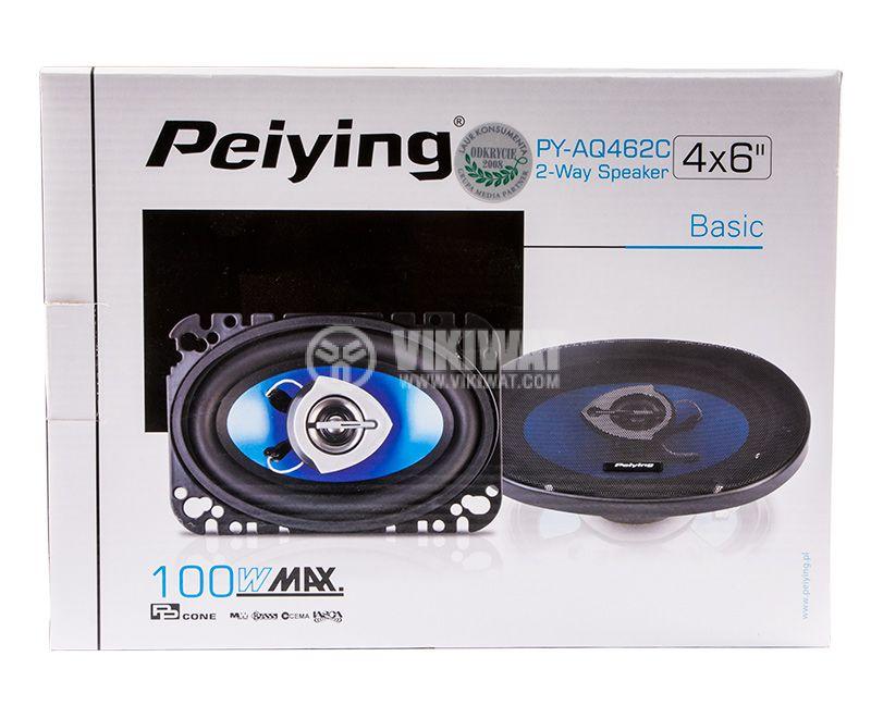 Автомобилни тонколони Peiying, PY-AQ462C, 100W, 100х160mm - 4