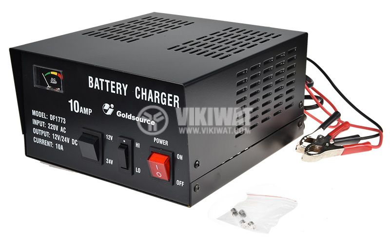 Battery charger 12 VDC / 24 VDC, 10 A, DF1773 - 2