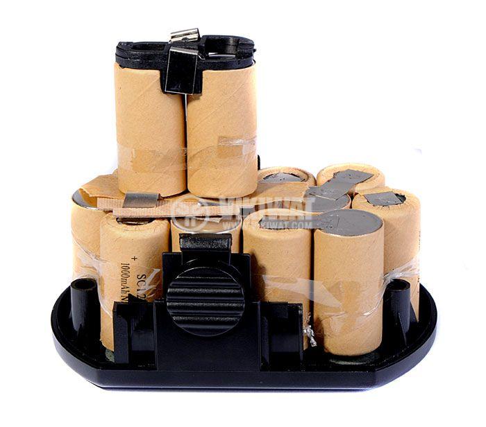 Battery for electric screwdriver 18V, 1000mAh, 15xSC - 3
