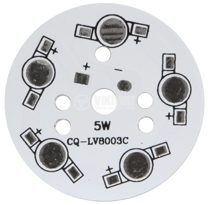 LED pad for 5 led diodes, d=49mm