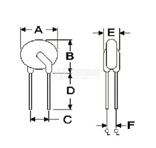 Предпазител полимерен възстановяем PTC 1.35 A,120 VDC - 5