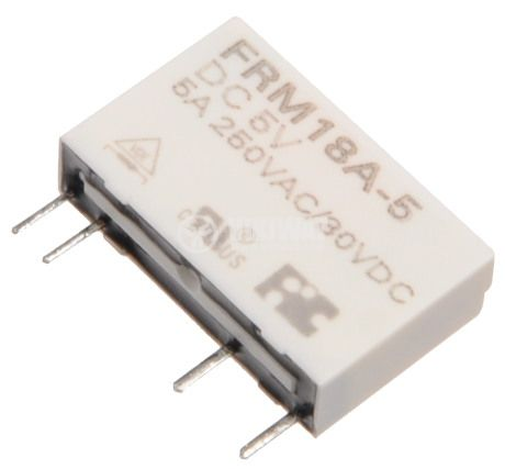 Electromagnetic relay interface, FRM18A-5VDC, with coil 5 VDC 250 VAC / 5A SPST NO - 2