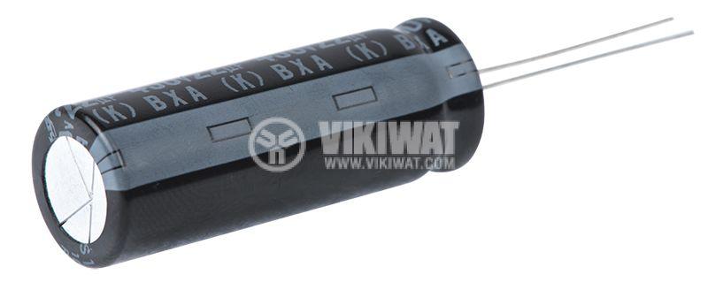 Кондензатор електролитен BXA S1707, 450V, 22uF, ф13x36mm - 3
