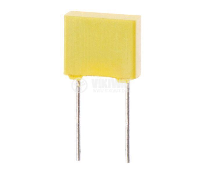 Кондензатор полиестерен 3.3 uF, 100 V, ±10 %, tht монтаж