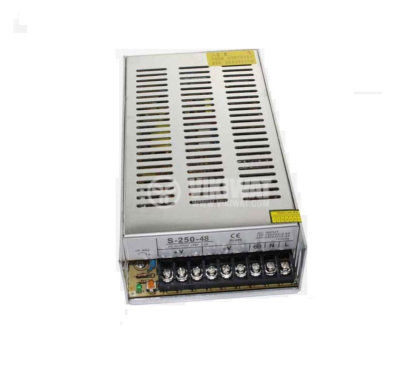 Switch power supply S-250-48, 48V 5.5A 260W