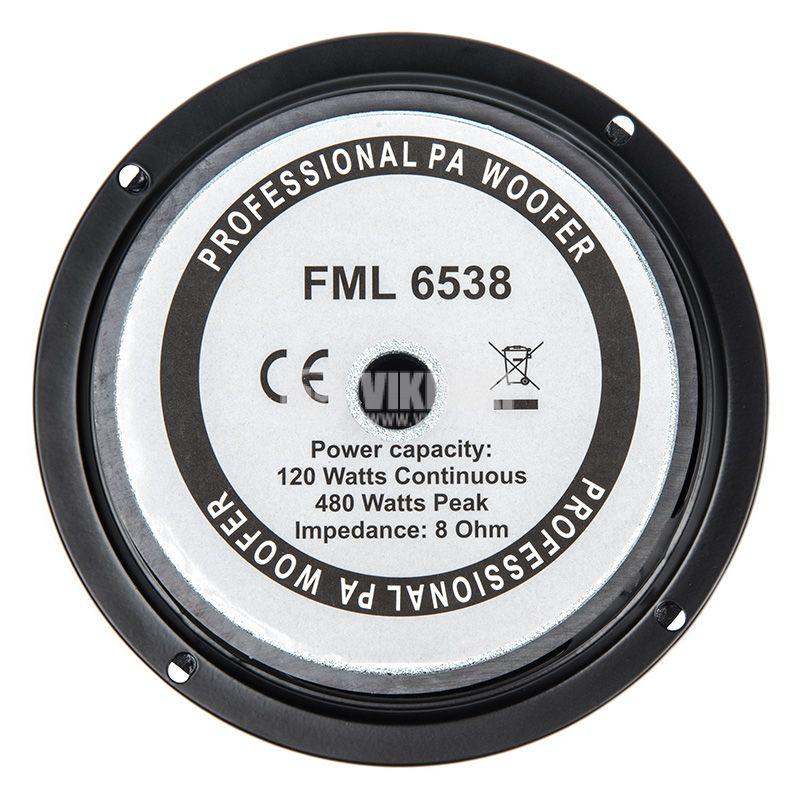 "Low Frequency Speaker FMM-6538, 120W, 8Ohm, 6.5 "" - 4"