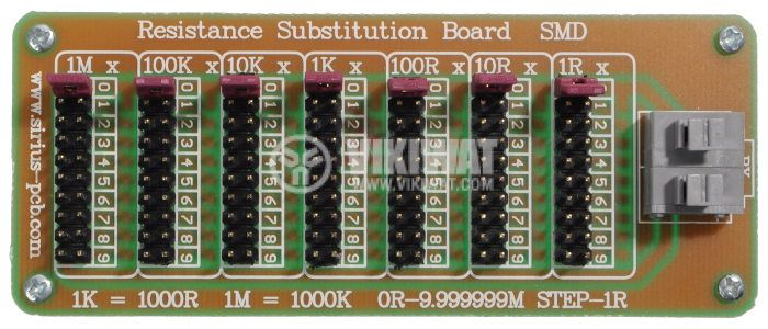 Resistance Substitution Board MOD-2130, 1/9999999 Ohm, 0.25W, SMD - 1
