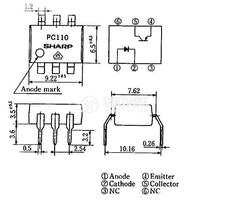 Оптрон  PC111, с транзисторен изход - 2
