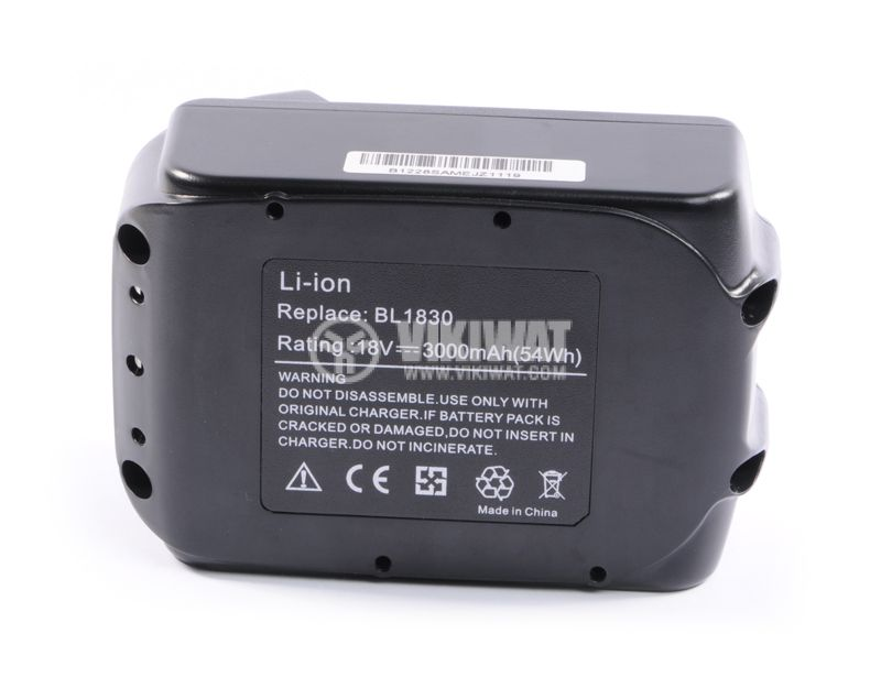 Rechargeable battery, BL1830, 18V, 3000mAh for tools MAKITA - 3