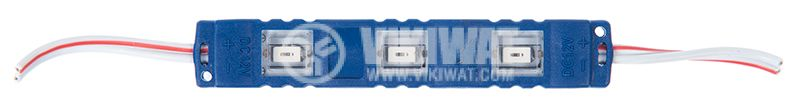 LED module 3led, 1.2W, 12VDC, waterproof, blue