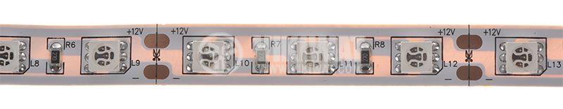 Светодиодна лента LED, 60 диода на метър, зелен цвят, SMD5050, 12VDC, 14.4W/m, IP20 - 1