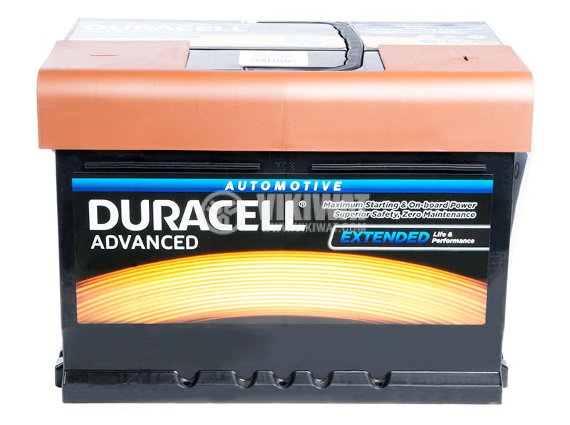 Car battery, 60Ah, starter, 12VDC, DURACELL DA 60T - 2
